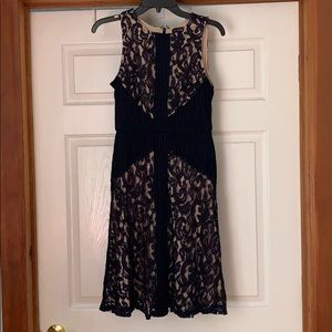 The Limited lace overlay dress blue cream size 2
